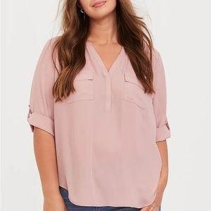 Torrid Dusty Pink Georgette Blouse Size 0